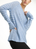 White + Warren Cashmere Mixed Striped Raglan