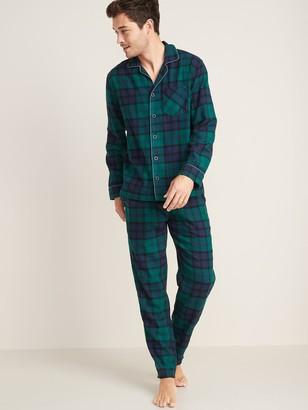 Old Navy Patterned Flannel Pajama Set for Men