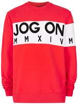 Jog On Red Bold Logo Sweatshirt*
