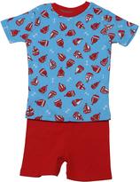 New Jammies Blue Sail Away Organic Shorts Pajama Set - Infant & Kids
