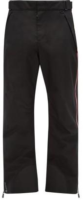 MONCLER GRENOBLE Side-stripe Soft-shell Ski Trousers - Black