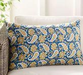 Pottery Barn Mahal Block Print Indoor/Outdoor Lumbar Pillow