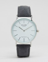 Reclaimed Vintage Inspired Wool Strap Watch In Gray
