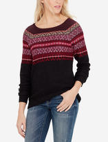The Limited Patterned Boat Neck Sweater