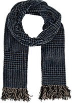 Barneys New York MEN'S ABSTRACT-PLAID CHENILLE SCARF