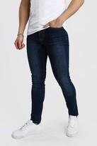 boohoo Mens Blue Skinny Fit Jeans, Blue