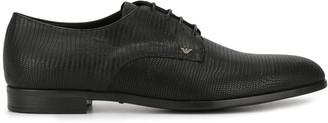 Emporio Armani Lizard Effect Derby Shoes
