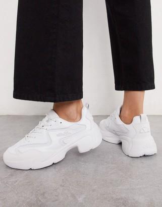 Ellesse Indus chunky sneakers in triple white