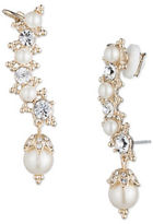 Marchesa Simulated Pearls and Goldtone Brass Ear Crawler