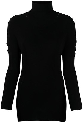 Pleats Please Issey Miyake Fitted Roll-Neck Top