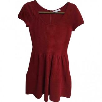 Sandro Red Cotton - elasthane Dresses