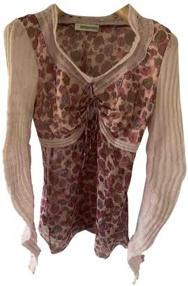 Ermanno Scervino Pink Silk Top for Women