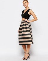 Oasis Stripe Skater Skirt