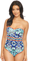 Figleaves Mayan Underwired Bandeau Tummy Control Swimsuit