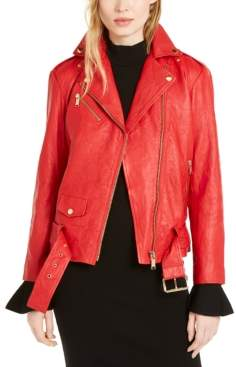 Michael Kors Michael Leather Moto Jacket