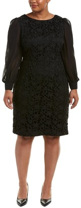 Adrianna Papell Women's Plus Size Bshp SLV Ava Lace Sth