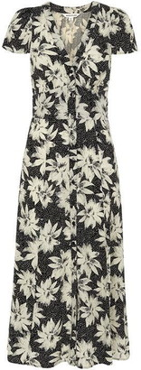 Whistles Starburst Floral Print Dress