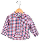 Petit Bateau Boys' Gingham Short Sleeve Shirt