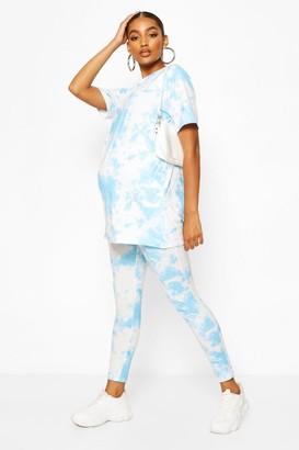 boohoo Maternity Tie Dye Legging
