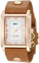 La Mer Women's LMHOZ5002 Oversize Square Collection Sand Oversize Square Watch