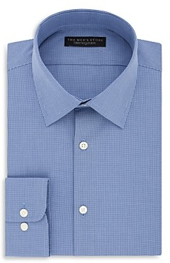 The Men's Store at Bloomingdale's Micro Check Regular Fit Dress Shirt - 100% Exclusive