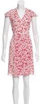 Burberry Printed Silk Mini Dress