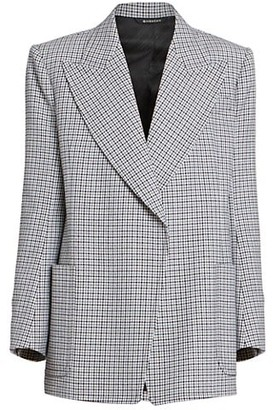 Givenchy Masculine Double Breasted Plaid Wool Jacket