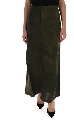 UMA WANG Embossed Velvet Maxi Skirt