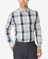 Perry Ellis Men's Large-Plaid Long-Sleeve Shirt