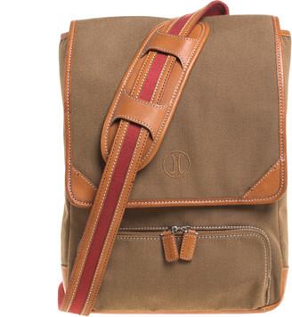 Cole Haan Brown Canvas Messenger Bag