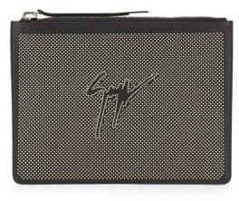 Giuseppe Zanotti Studded Leather Pouch