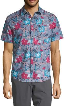 Original Penguin Tropical-Print Short-Sleeve Shirt