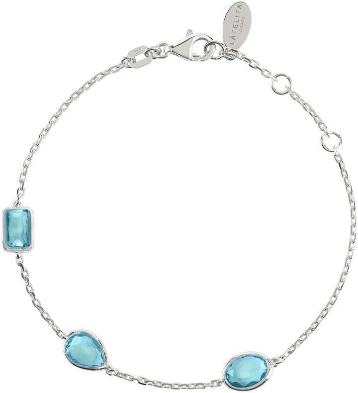 LATELITA - Venice Bracelet Silver Blue Topaz