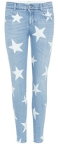 Stella McCartney Printed denim skinny jeans