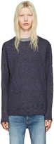 Nonnative Navy Linen Clerk Sweater