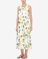 Catherine Malandrino Lemon-Print Midi Dress