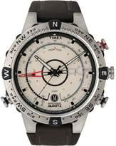 Timex Intelligent Tide Temp Men's Black Leather Strap Watch