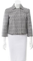 Tory Burch Cropped Jacquard Jacket