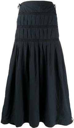 MHI Tiered Maxi Skirt