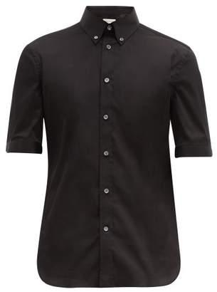 Alexander McQueen Brad Pitt Short-sleeve Poplin Shirt - Mens - Black