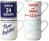 Kate Spade orders up mug - Set of 4