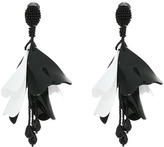 Oscar de la Renta Large Impatiens Flower Drop C Earrings Earring