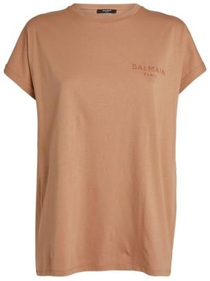Balmain Flocked Mini Logo T-Shirt