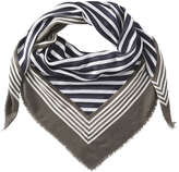 Joe Fresh Women's Geometric Square Scarf, JF Midnight Blue (Size O/S)