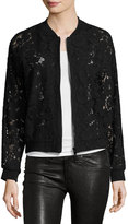 Bagatelle Semisheer Lace Bomber Jacket, Black