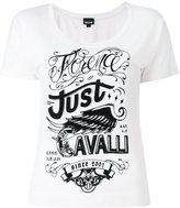Just Cavalli logo print T-shirt - women - Cotton/Polyester - XS