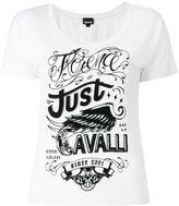 Just Cavalli logo print T-shirt - women - Cotton/Polyester - XS