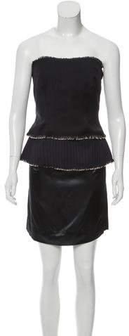 Maison Margiela Strapless Wool Dress w/ Tags