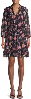 Supply & Demand Ruffled Floral Dress