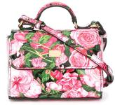 Dolce & Gabbana rose print shoulder bag - kids - Cotton/Calf Leather - One Size